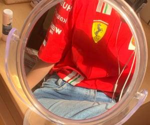 ferrari, jeans, and mirror image