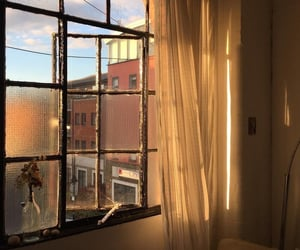 apartment, sunlight, and sunset image