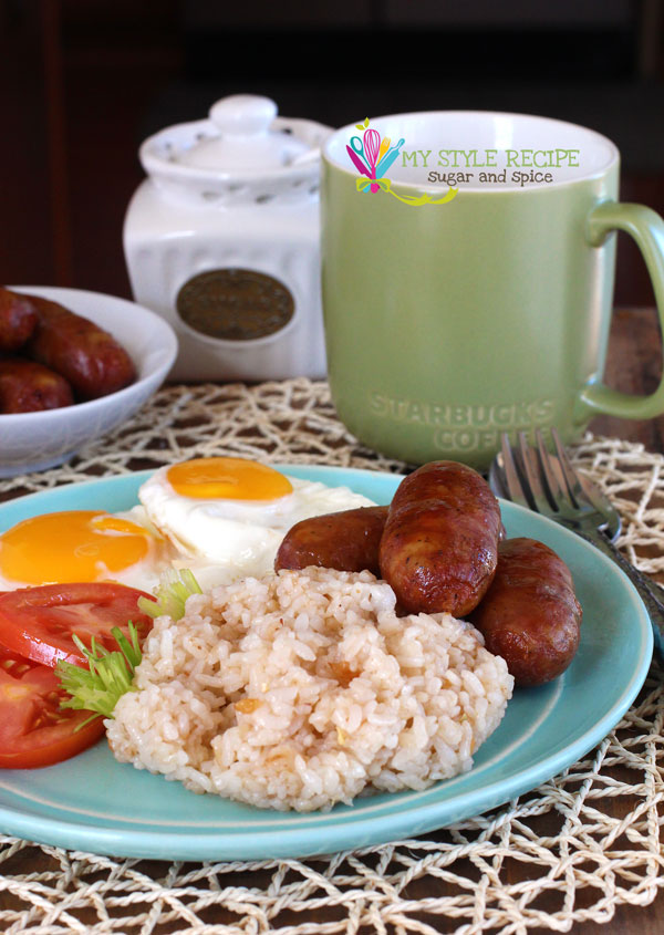 breakfast, egg, and sausage image