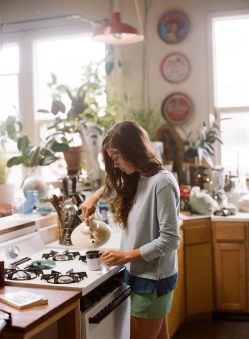 breakfast, girl, and coffee image