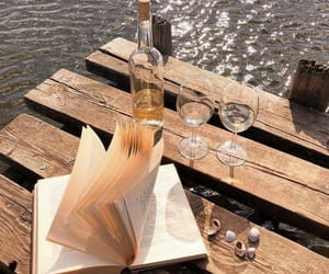 book, summer, and wine image