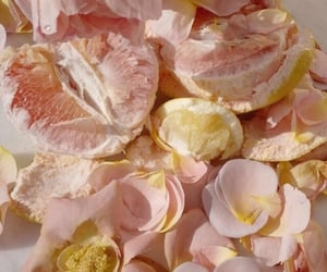 flowers, pink, and fruit image