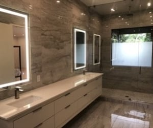 bathroom, lights, and beige image
