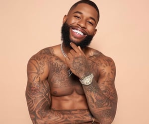 smile, Tattoos, and melanin image