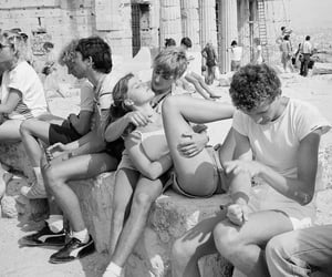 black and white and Greece image