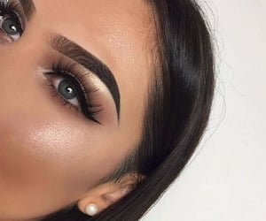 fancy, girl, and eyes image