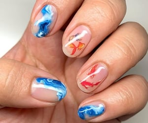 nails, style, and gelish image