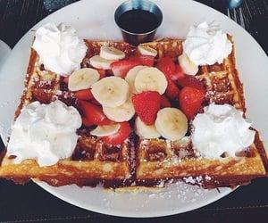 food, yummy, and waffles image