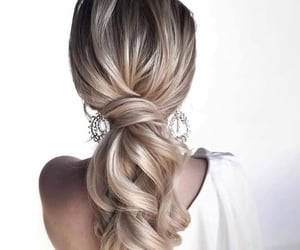 hair, beauty, and bride image