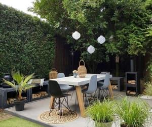 backyard, chilling, and furniture image