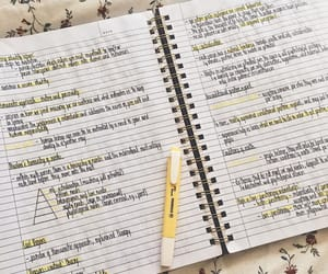 college, notes, and personality image