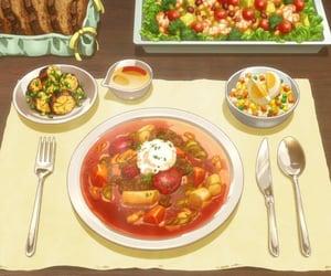 anime food, anime, and food image