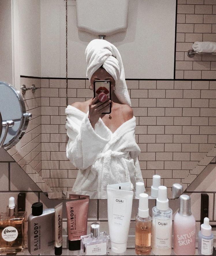 girl, beauty, and bathroom image