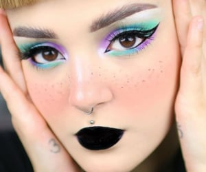 beauty, belleza, and dark lips image