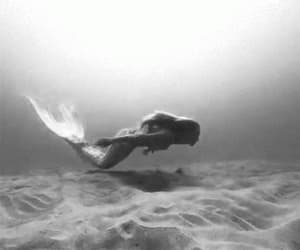 agua, gifs, and sirena image