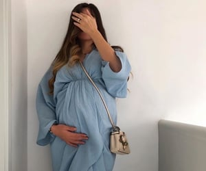 baby, blue, and motherhood image