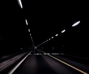 road, dark, and grunge image