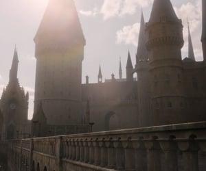 castle, film, and hogwarts image