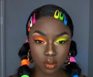 black girl and makeup image