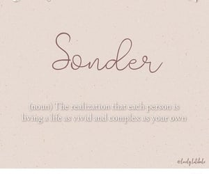 quote, sonder, and definition image