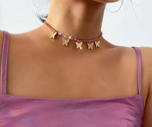 butterflies, choker, and necklace image