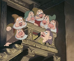 snow white, disney, and seven dwarfs image