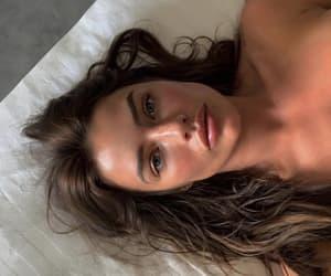 brunette and beautiful girl model image