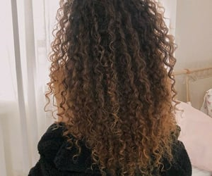 brown hair, cabelo, and curls image