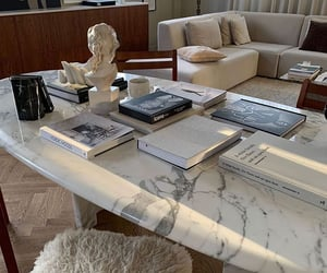 books, interior design, and marble image