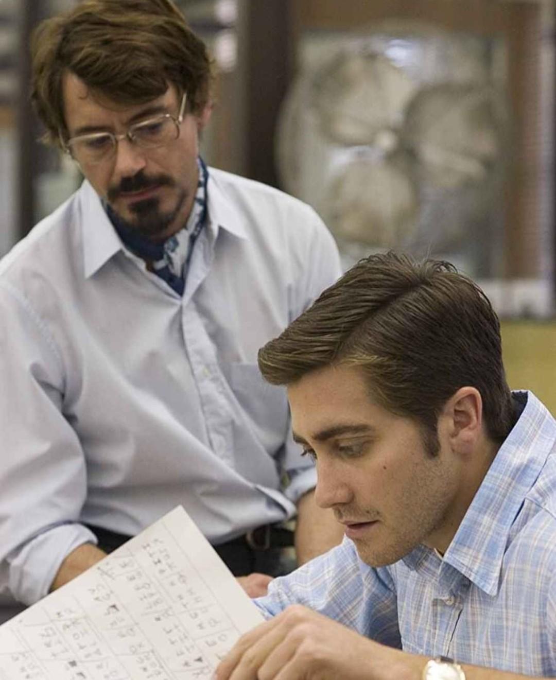 robert downey jr, zodiac, and jake gyllenhaal image