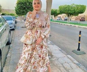 dress, skirt, and hijabista image
