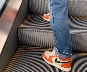 fashion, orange, and shoes image