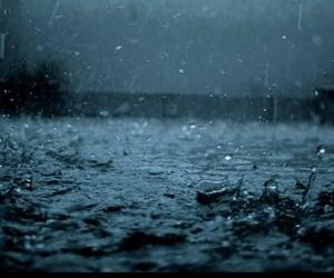 rain, raining, and water image