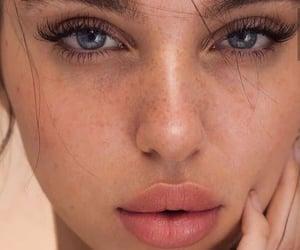 makeup, blue eyes, and eyes image