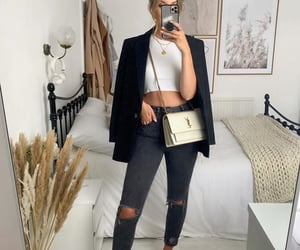 cropped, mule, and blazer preto image