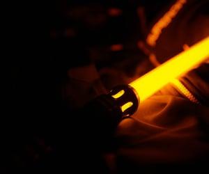 jedi, lightsaber, and orange image
