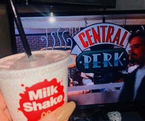 drinks, central perk, and food image