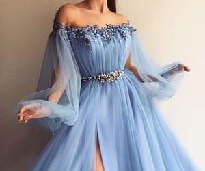 slit, glutter, and bluedress image