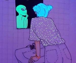 alien, girl, and purple image