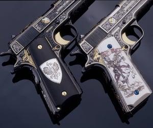 gun, dark, and art image