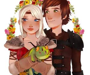 astrid, dragon, and hiccup image