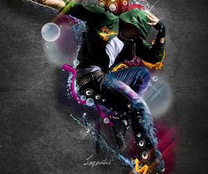 colorful, dancer, and design image