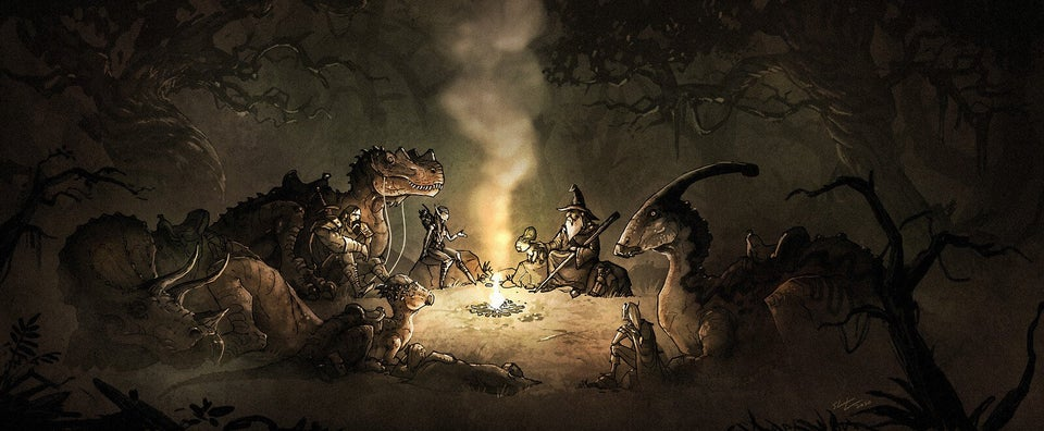 art, camp, and dinosaurs image