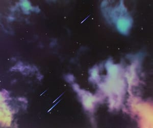 clouds, floating, and galaxies image