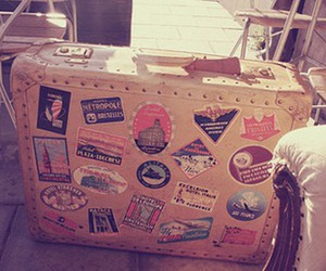 travel, suitcase, and vintage image
