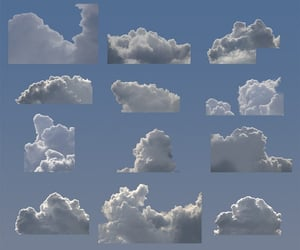 clouds, blue, and aesthetic image