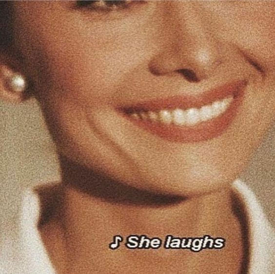 audrey hepburn, smile, and laugh image