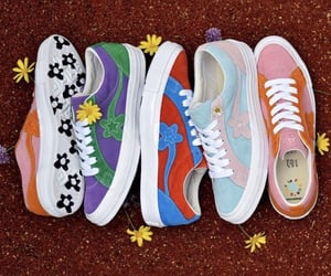 colorful, flowers, and sneakers image