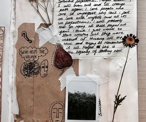 journal, flowers, and aesthetic image