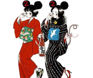 japan, 着物, and かわいい image